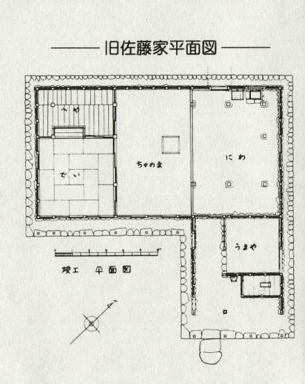 中門造り〈佐藤家平面図)