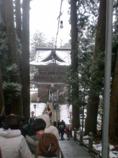 2013年01月01日 善寶寺・階段から