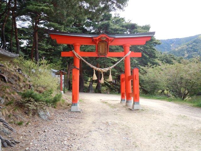 千鹿頭神社の砦 (1)