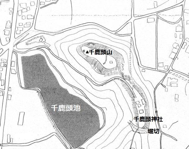 千鹿頭神社砦見取図②