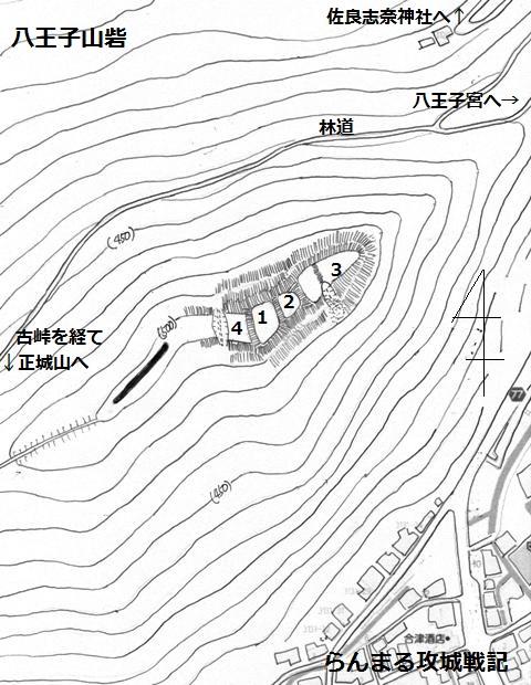 八王子山砦縄張図②