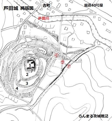 芦田城縄張図