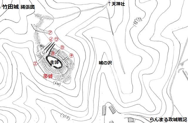 竹田城縄張図