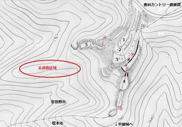 平瀬山 北の城 見取図①