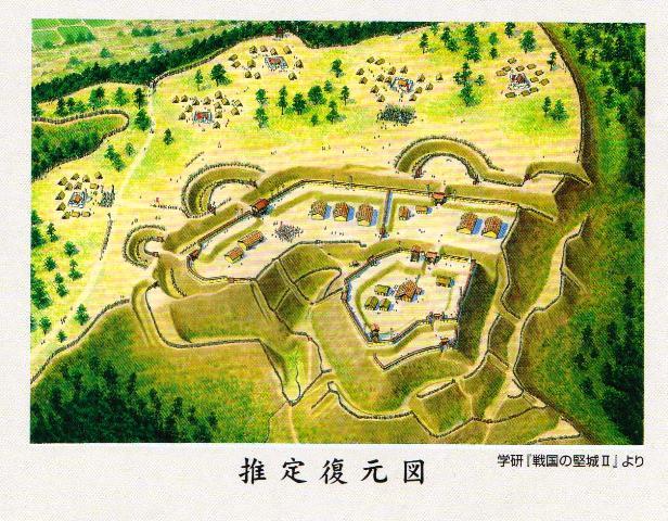 諏訪原城復元図①
