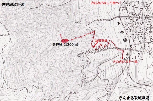 佐野城攻略図
