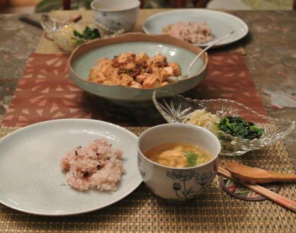 麻婆豆腐で夕飯