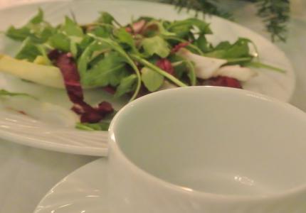 サラダ&soupが来る予定