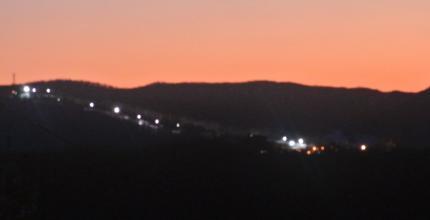 westpointのリフトの明かり