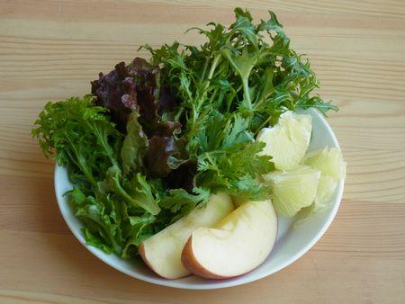 サラダセットりんごパール柑グリーンスムージー1