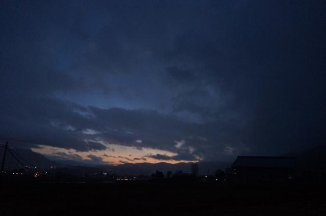 一日目走り終わった後の夕焼け