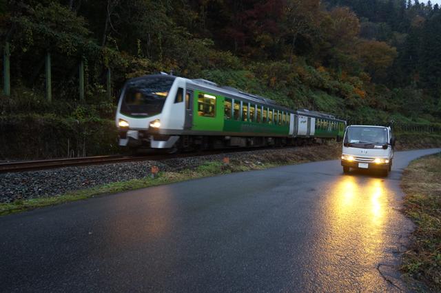 マツダタイタンと飯山線の臨時列車