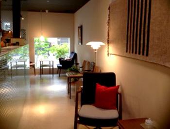 北欧デンマーク家具 京都 町屋カフェ 遊形 インテリア空間