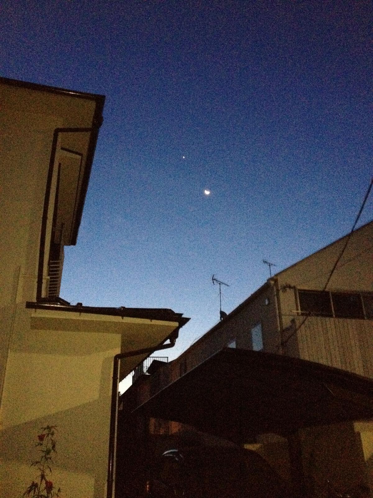 Moon and Vinus