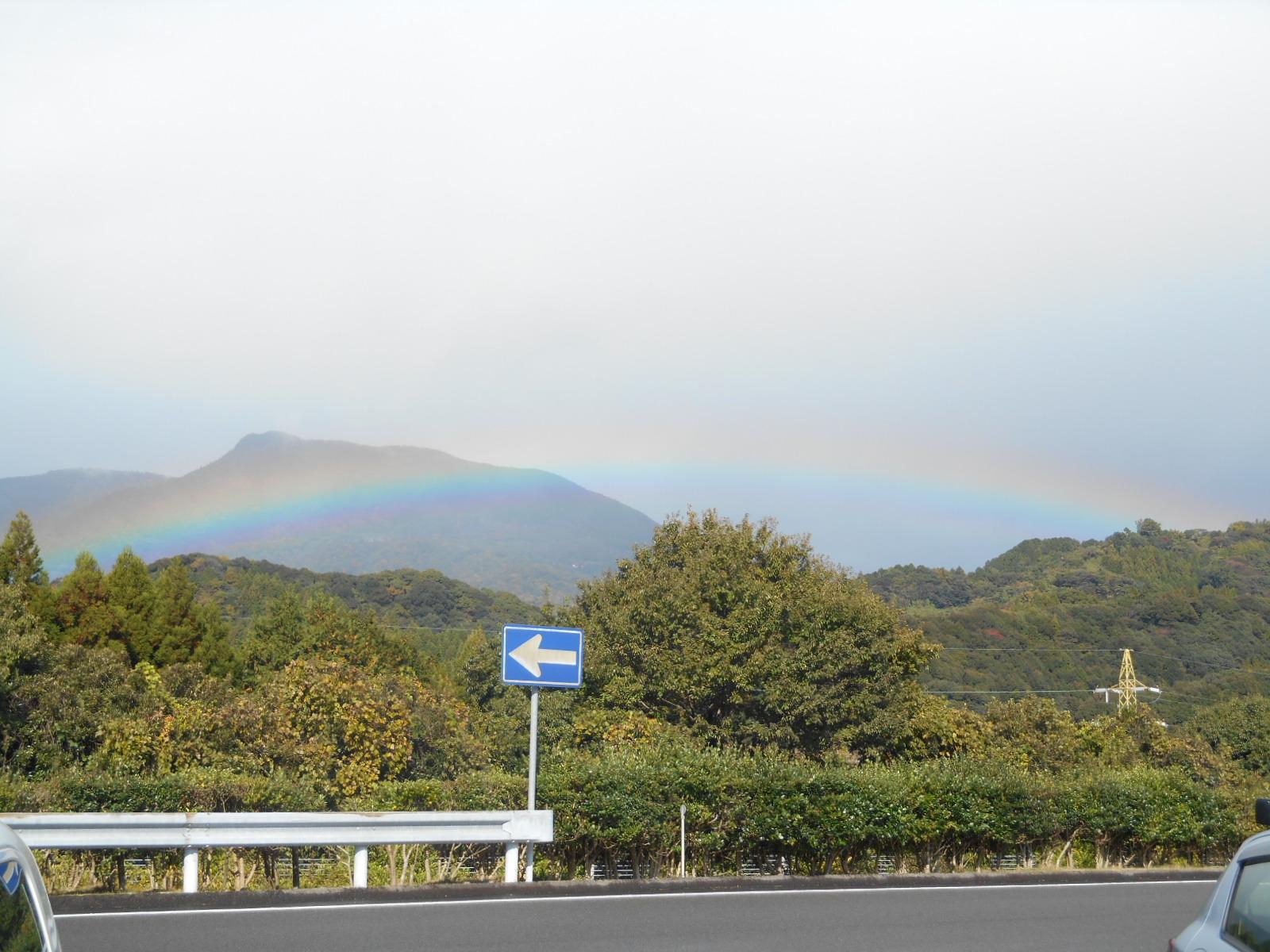 虹が・・・。