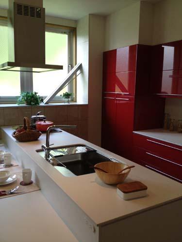 キッチン赤2