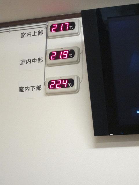 床暖房温度