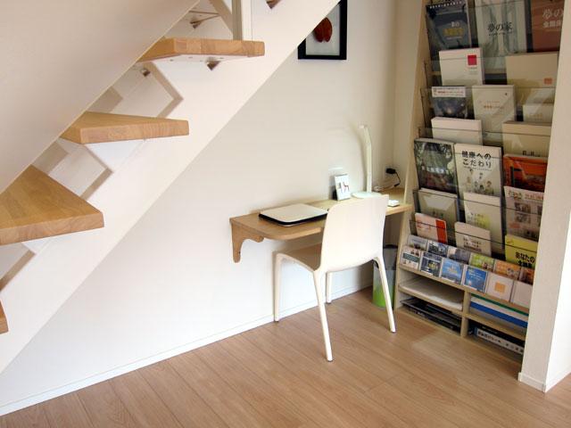 三鷹 階段下の机