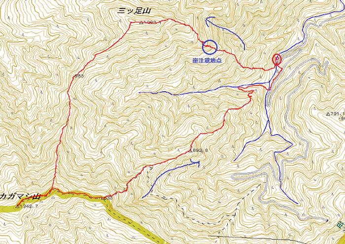 0414三ッ足山からカガマシ山