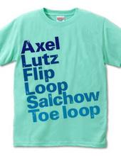 figure skate jump Tシャツ