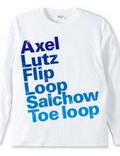 figure skate jump  ロングTシャツ