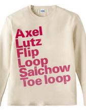 figure skate jump_pk  ロングTシャツ