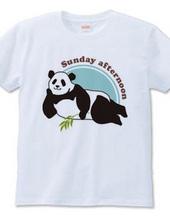 日曜日のパパパンダTシャツ