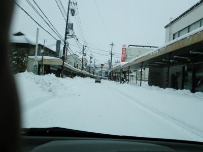 駒ケ根市内の雪