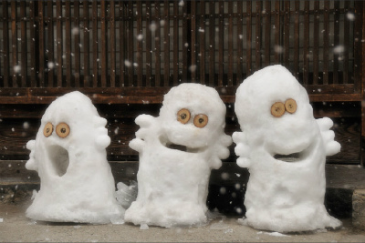 雪のオブジェ