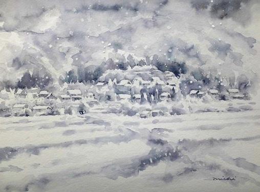 お大原雪景色イメージ1