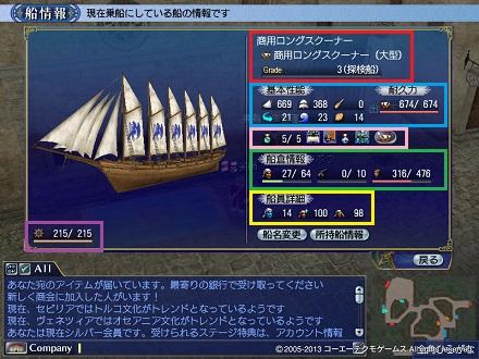 船性能画面