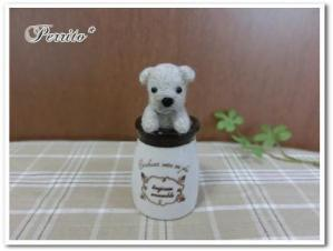 小瓶わんちゃん白1