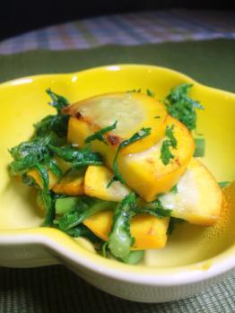 20120725黄ズッキーニの炒め物