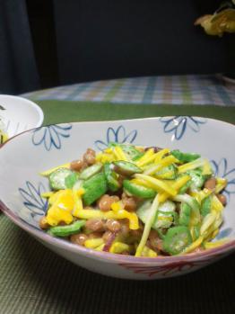 20120726オクラとズッキーニ納豆