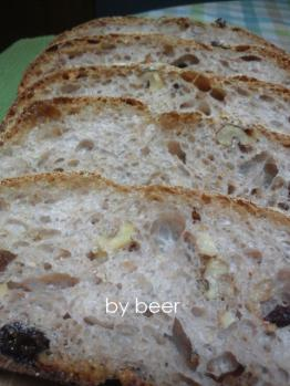 20120822胡桃とレーズンのカンパーニュbyビール酵母0
