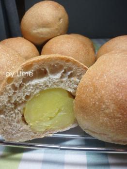 20120828惣菜パン(自家栽培小麦)by梅酵母0