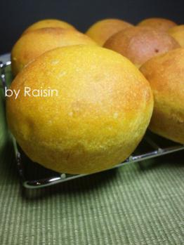 20120922クリームチーズinかぼちゃパンbyレーズン酵母0