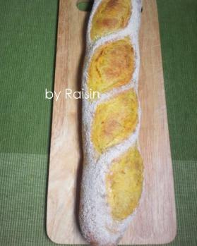 20120930かぼちゃバゲットbyレーズン酵母1