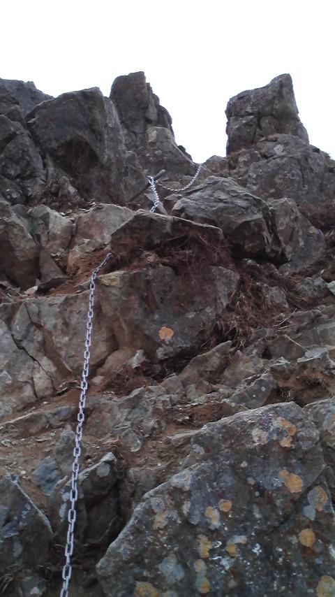 鬼ヶ岩 鎖場