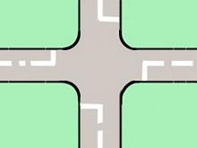 交差点と停止線