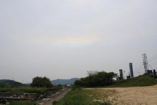 まんのう町の川沿いの空
