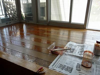 サンルーム塗装作業