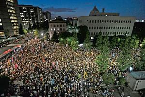 首相官邸前デモ