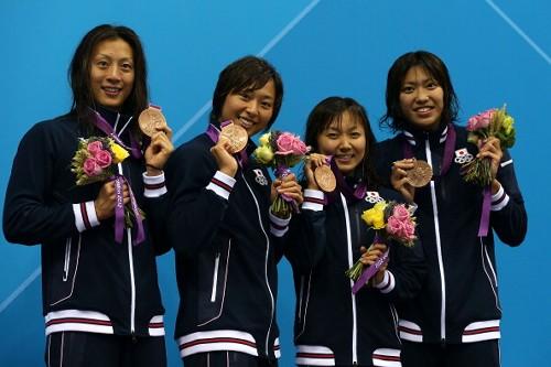 日本女子400リレー銅