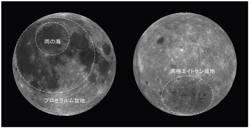 月のウサギ形模様