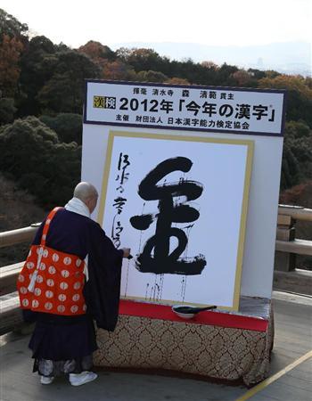 12年今年の漢字