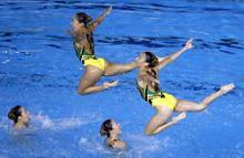 世界水泳シンクロ銀