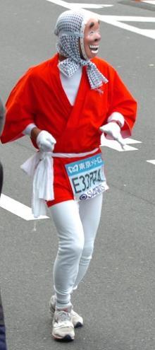 東京マラソンひょっとこ