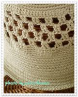 ベージュ帽子:春3