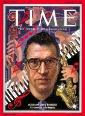 1954年11月、タイム誌の表紙になったデイヴ・ブルーベック(Wikipedia )